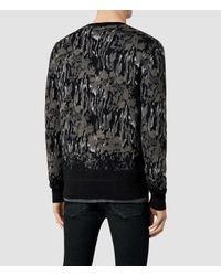 AllSaints | Gray Canopy Crew Sweater | Lyst