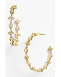 Freida Rothman | Metallic 'femme' Station Inside Out Hoop Earrings | Lyst