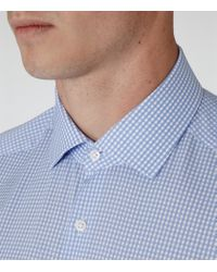 Reiss | Blue Katana Slim-fit Checked Shirt for Men | Lyst