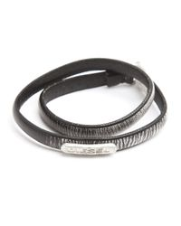 DIESEL | Atexo Black And Grey Bracelet for Men | Lyst