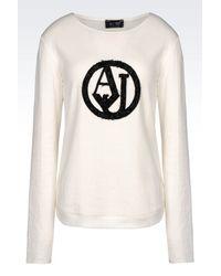 Armani Jeans | White Print T-shirt | Lyst