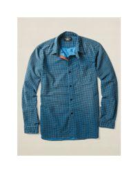 RRL | Blue Indigo-dyed Bulldog Workshirt for Men | Lyst