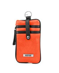 Kenneth Cole Reaction | Orange Must Haves Leather Snap Tab Card Case | Lyst