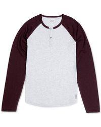 Lucky Brand - White Heathered Baseball T-shirt for Men - Lyst
