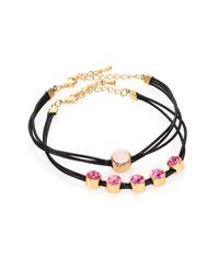 ABS By Allen Schwartz - Metallic Jeweled Cord Bracelet Set - Lyst