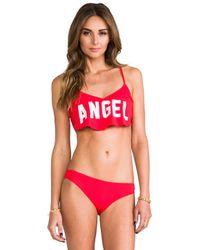 Wildfox   Angel Tankini Top in Red   Lyst