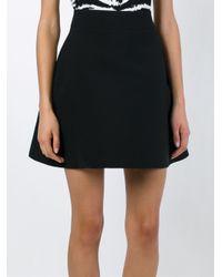 Fausto Puglisi - Black A-line Short Skirt - Lyst