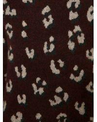 3.1 Phillip Lim - Red Burgundy Leopard Crew Neck Sweater - Lyst