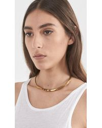 Wwake - Metallic Neck Cuff 2 - Lyst