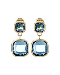 Michael Kors | Blue Botanicals Gold & Single Citrine Stone Drop Earring | Lyst
