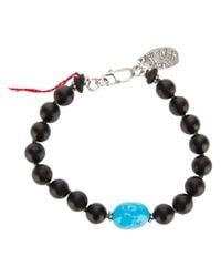 Aaron Jah Stone - Black Root Chakra Bracelet - Lyst