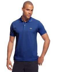 Lacoste | Blue Pique Cotton Polo Shirt for Men | Lyst