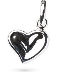 Links of London | Metallic Thumbprint Heart Charm - For Women | Lyst