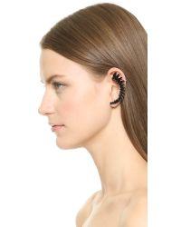 Adia Kibur - Crystal Left Ear Crawler & Stud - Black - Lyst