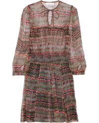 Étoile Isabel Marant - Brown Danzig Printed Silk-chiffon Dress - Lyst