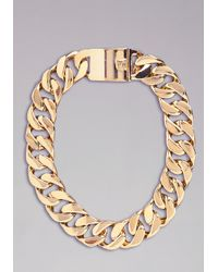 Bebe - Metallic Oversized Chain Necklace - Lyst