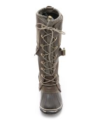 Sorel - Green Conquest Carly Boots - Lyst