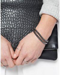 ASOS - Gray Double Snake Chain Bracelet - Lyst