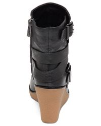 BCBGeneration | Black Finland Wedge Ankle Booties | Lyst