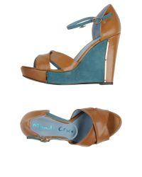 Manila Grace - Natural Sandals - Lyst