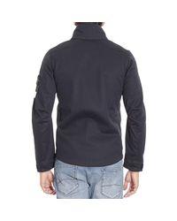 Stone Island | Blue Down Jacket for Men | Lyst