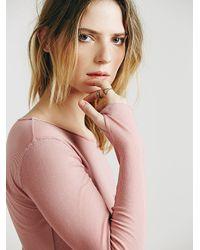 Free People | Pink Sweet Dream Layering Top | Lyst