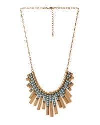 Forever 21 - Blue Art Deco Fan Bib Necklace - Lyst