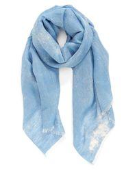 Hinge | Blue Bleach Dye Scarf | Lyst