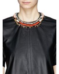 Venna | Orange Star Charm Spike Collar Necklace | Lyst