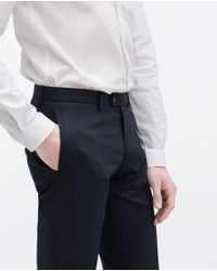 Zara | Blue Comfort Trousers for Men | Lyst