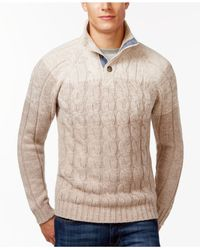 Weatherproof | Natural Ombre Cable Sweater for Men | Lyst