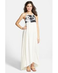 Billabong - White 'among The Stars' Crochet Maxi Dress - Lyst