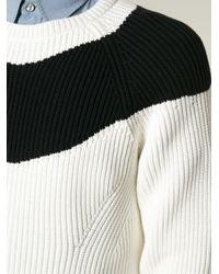 N°21 - Black Contrasting Stripe Ribbed Sweater for Men - Lyst