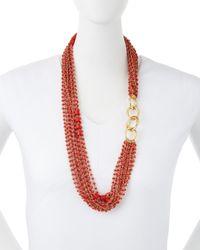 Diane von Furstenberg | Pink Susan Multi-Strand Beaded Necklace | Lyst