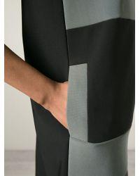 Lanvin - Black Striped Shift Dress - Lyst