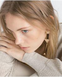 Zara | Gray Double V-neck Sweater | Lyst