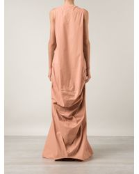 Rick Owens | Pink Draped Evening Dress | Lyst