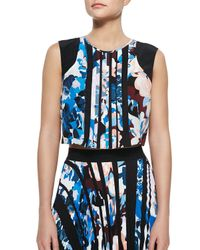 Elizabeth and James | Blue Pia Floral-Print Crop Top | Lyst