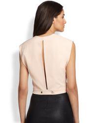 Robert Rodriguez   Pink Silk Open-Back Crop Top   Lyst