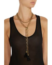 Isabel Marant - Metallic Happy Wednesday Gold-Tone Scarf Necklace - Lyst