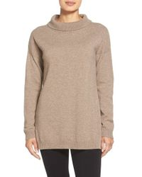 Eileen Fisher | Natural Cashmere Turtleneck Top | Lyst