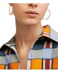 Tory Burch - Metallic Pierced-T Hoop Earring - Lyst