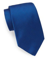 Ike Behar | Blue Neo Grenadine Silk Tie for Men | Lyst