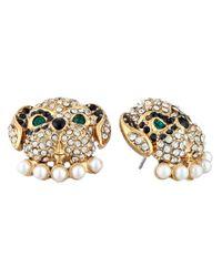 Betsey Johnson | Metallic Pet Shop Dog Stud Earrings | Lyst