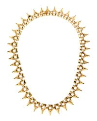 Noir Jewelry | Metallic 18k Goldplated Spike Necklace | Lyst