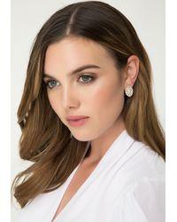 Bebe - Metallic Marquise Crystal Earrings - Lyst