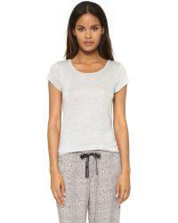 Calvin Klein | Gray Short Sleeve Pajama Top - Heather Grey | Lyst