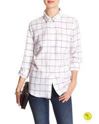 Banana Republic   White Factory Linen/cotton Soft-wash Shirt   Lyst