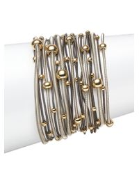 Saks Fifth Avenue | Metallic Two-tone Spring Coil Bracelet Set | Lyst