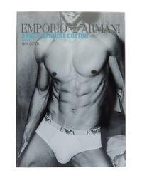 Emporio Armani   Blue Three-pack Cotton Briefs for Men   Lyst